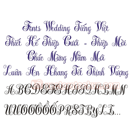 Fonts Wedding New.