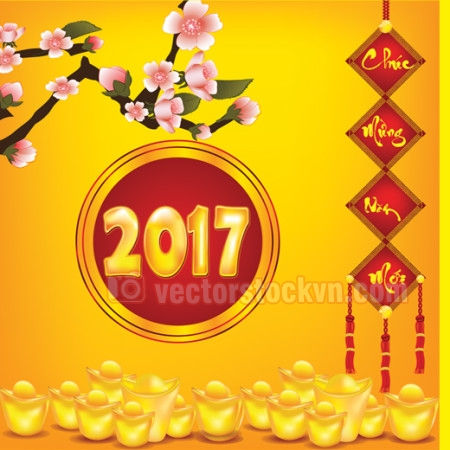 Vector logo in lịch tết 2017. file chất lượng cao